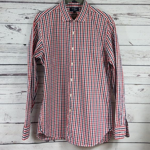 J. Crew Other - J. Crew  Red. White & Blue Thompson Shirt L